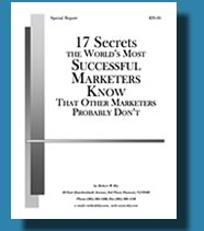 17 Secrets the World's Most Success Marketers Know Book